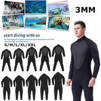 3MM Mens WetSuit S XL Full Bodysuit Super Elasticity Diving Suit For Swimming Surfing Snorkeling Elastic Adjustable Cloth Warm