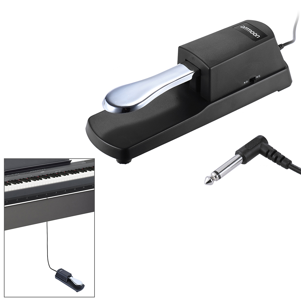 Ammoon MIDI Keyboard Sustain Pedal Piano Keyboard Practical Sustain Damper Pedal For Casio Yamaha Roland Electric Piano Organ