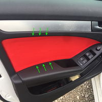 4pcs Microfiber Leather Interior Car Styling Door Panel Covers Trim For Audi A4 2009 2010 2011 2012 2013 2014 2015 2016