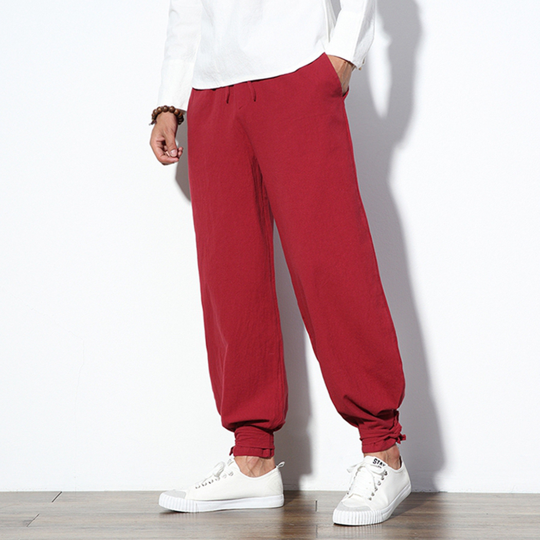 Trousers Male Pants Jogger Loose Vintage Chinese Summer Plus-Size Hip-Hop S-5XL Harajuku
