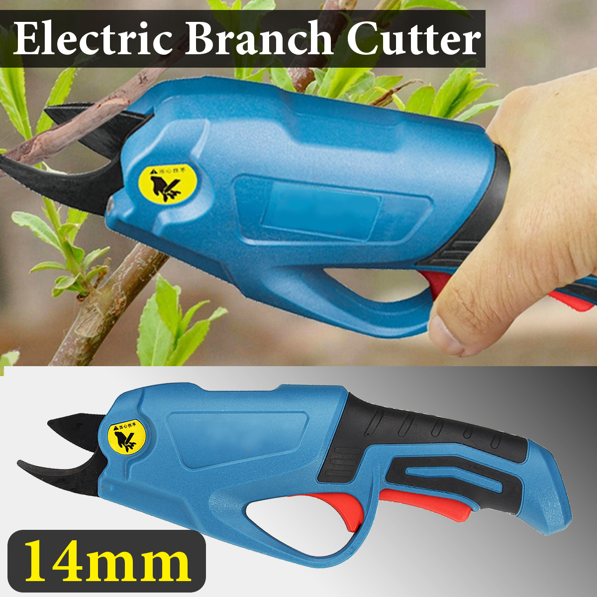 2Ah 4V Garden Power Tools 3.6V Li-ion Battery Cordless Secateur Branch Cutter Electric Fruit Cordless Shear Pruning Tool Blue