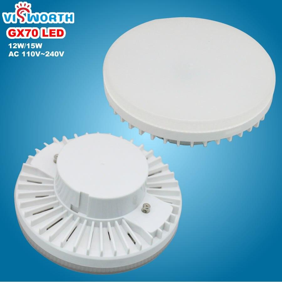 [VisWorth] GX70 Led Lampe 12 watt 15 watt Smd2835 45 stücke Leds Licht AC 110 v 220 v 240 v Scheinwerfer Warme Kalte Weiß Led-lampen Für Wohnzimmer