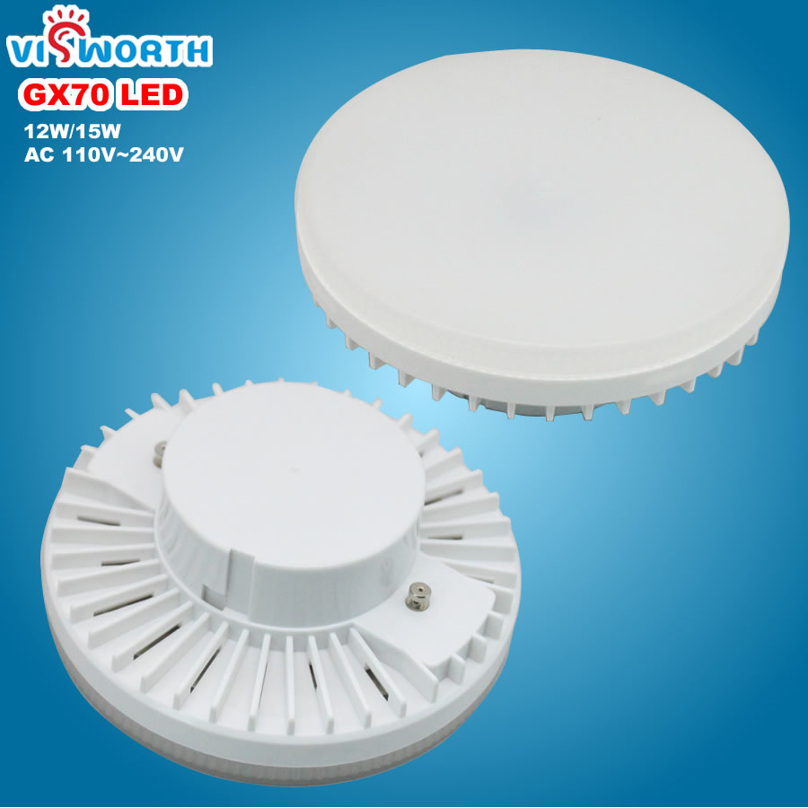 [Visworth] gx70 conduziu a lâmpada 12 w 15 w smd2835 45 pces diodo emissor de luz ac 110 v 220 v 240 v lâmpadas led branco frio quente spotlight para sala de estar
