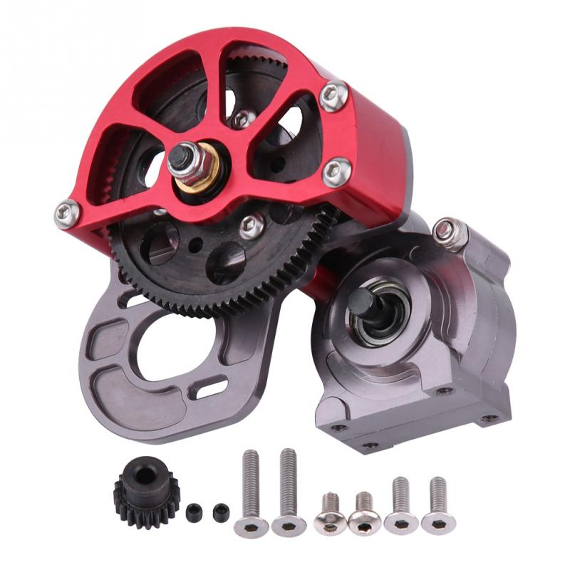 Aluminum Transmission Gearbox With Motor Gear and Dust Cover for SCX10 D90 1 10 RC Car