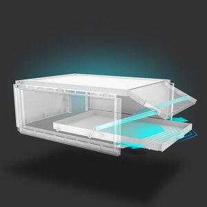 Image 5 - 3 قطعة صديقة للبيئة صندوق تخزين للحذاء حالة شفافة البلاستيك مستطيل Pp المنظم سميكة درج