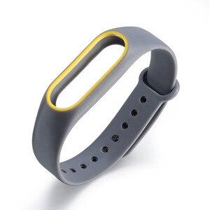 Image 2 - 21 kolory moda bransoletki dla Xiaomi Mi Band 2 Sport pasek zegarka silikonowy pasek na rękę dla Xiaomi MiBand2 bransoletka pasek na rękę