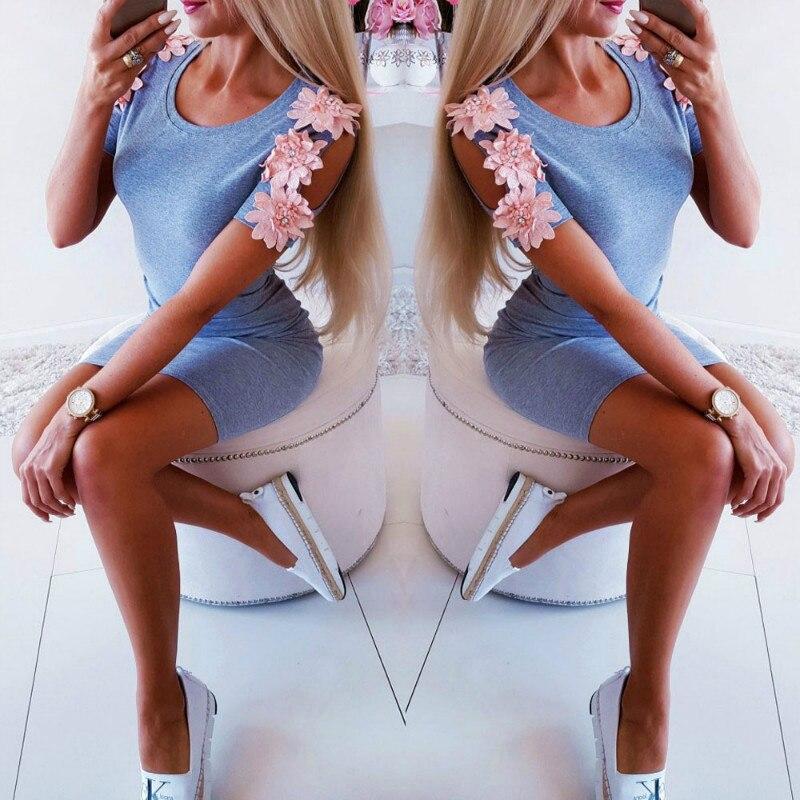 Женское мини-платье, повседневное облегающее платье с коротким рукавом для вечеринок, 2019