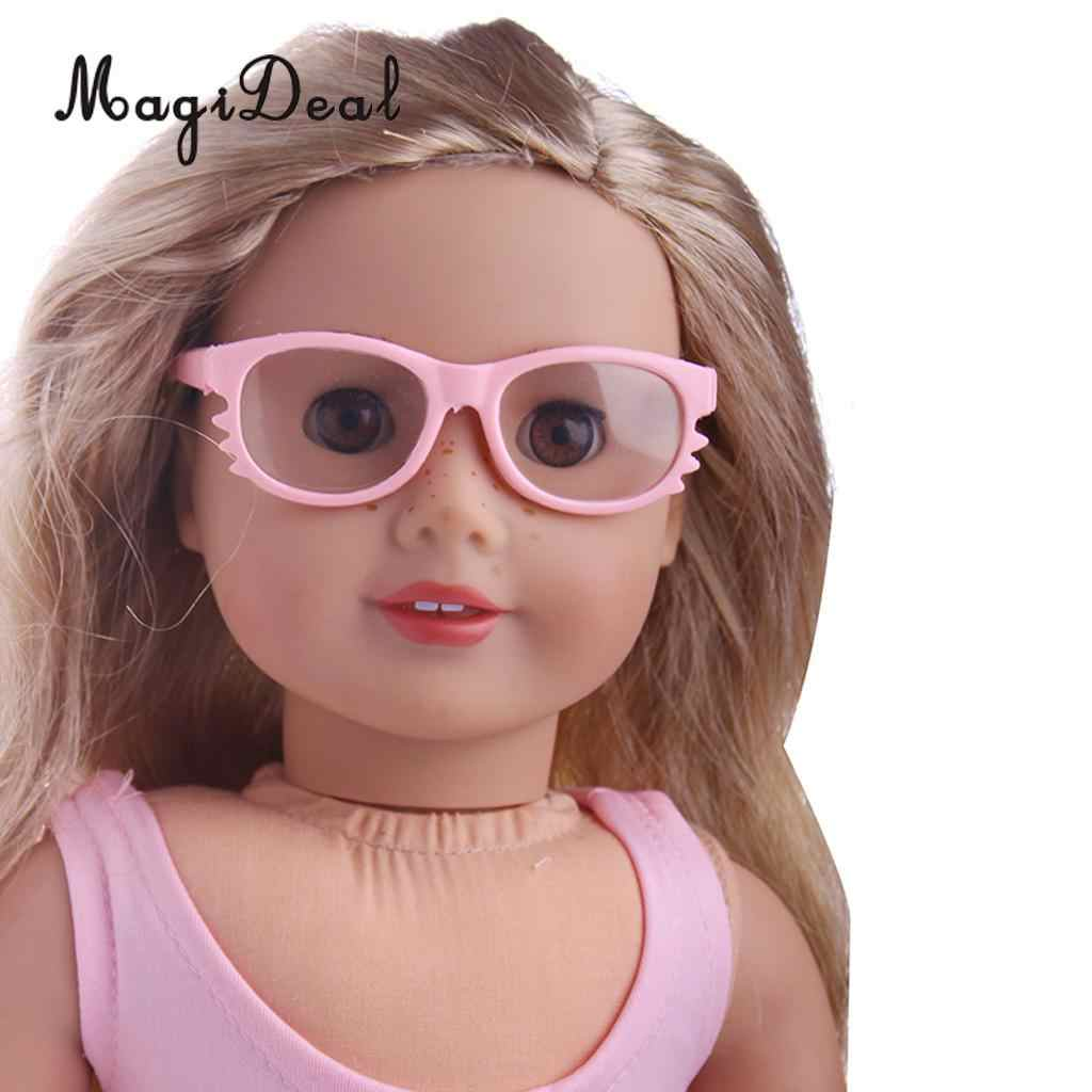 "Cute White Glasses Eyeglasses for 18/"" AG American Doll Dolls Clothes Accessory"