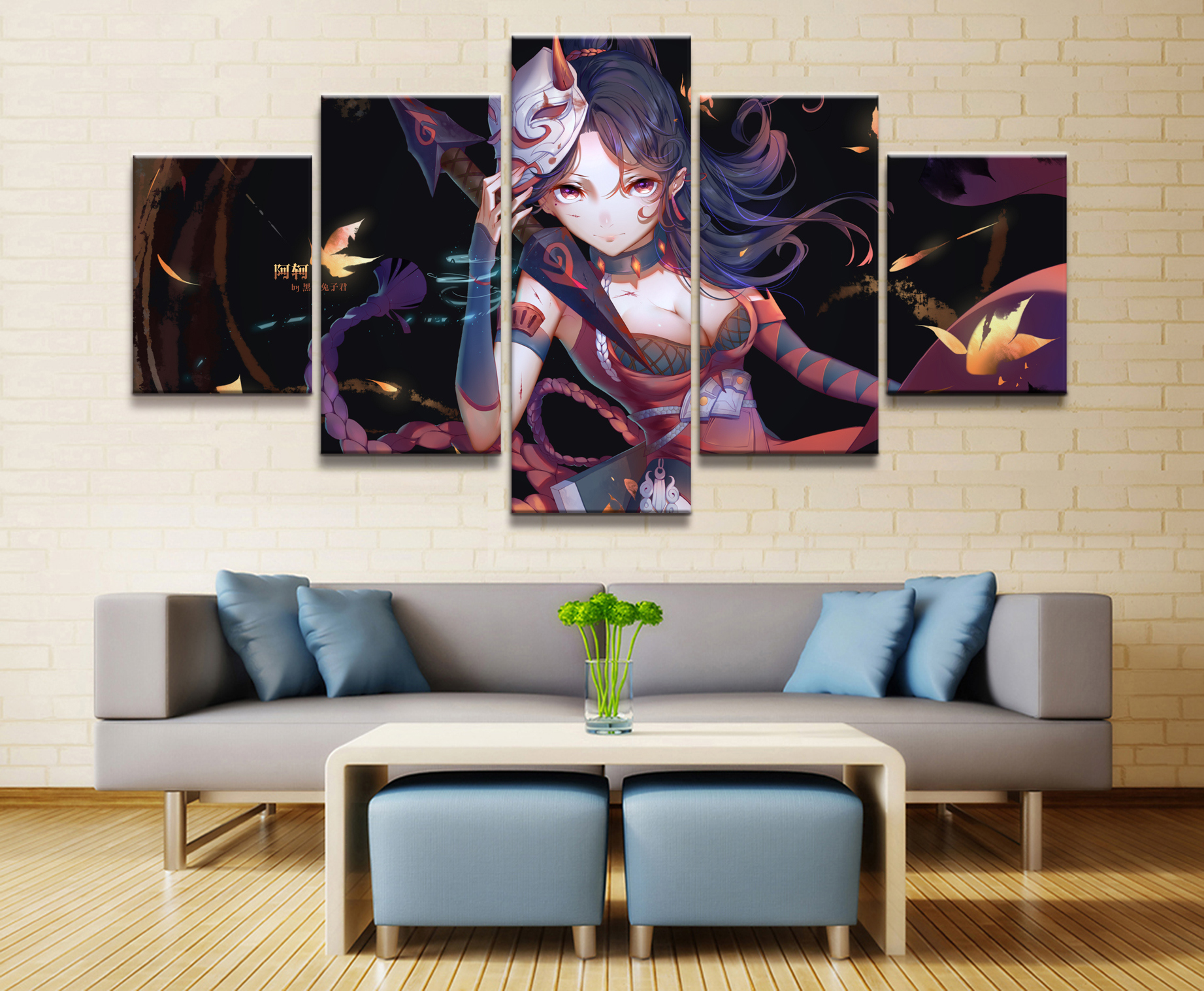 5 Panel Acor 5V5 Arena Of Valor Game Canvas Printed Painting For Living Room Wall Decor HD Picture Artworks Poster in Painting Calligraphy from Home Garden