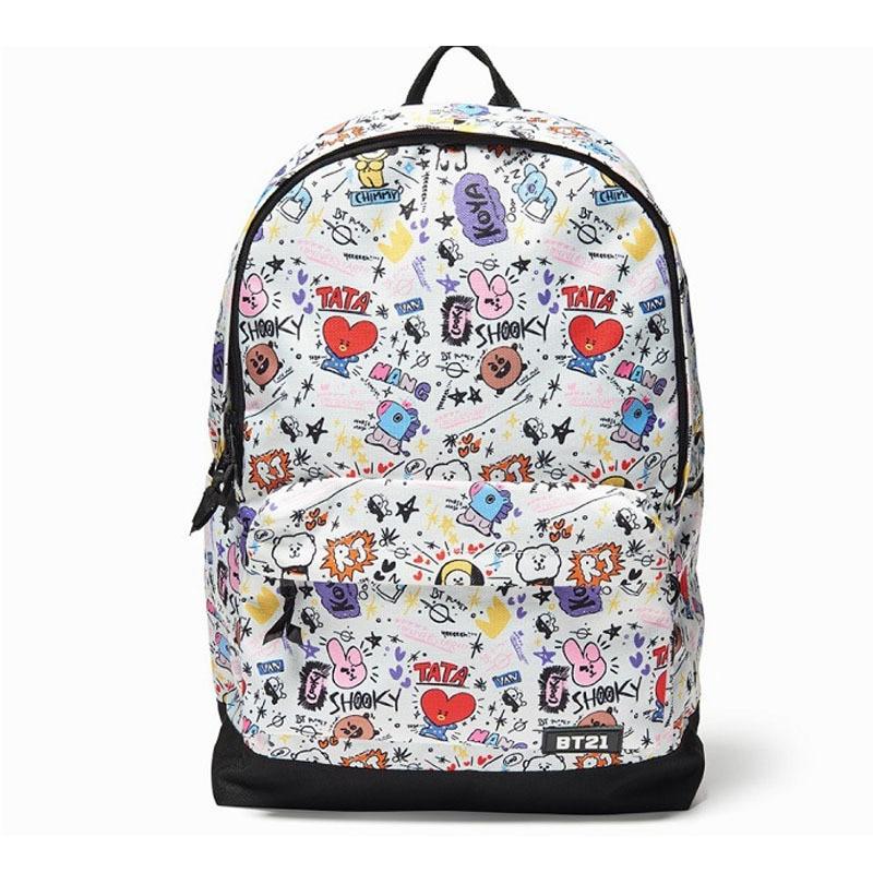 Signature Backpack  Character Graphic Mesh Backpack School Book Travel Shoulder Bag Signature Backpack  Character Graphic Mesh Backpack School Book Travel Shoulder Bag