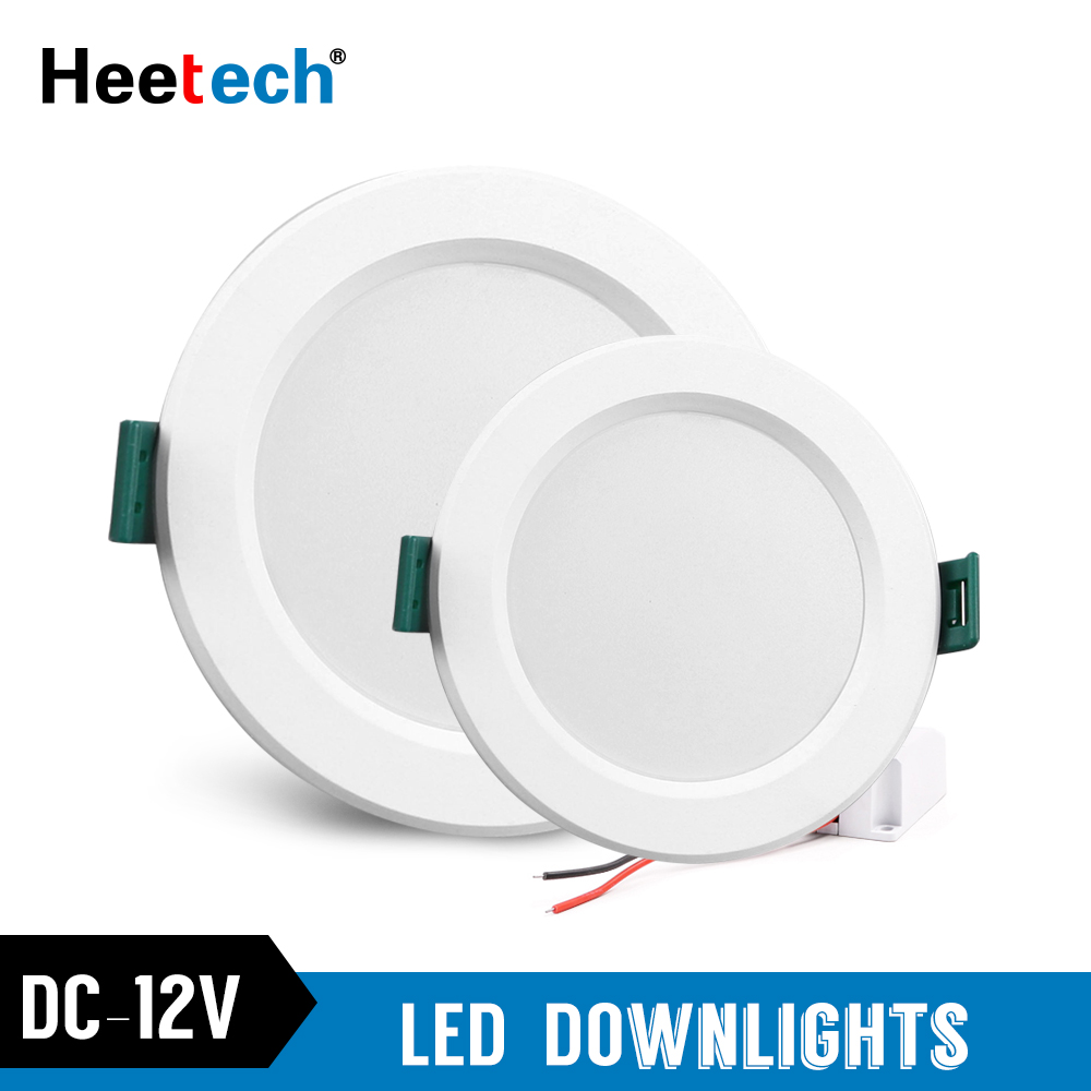 DC 12V Led Downlight 5W 9W 12W 15W 18W Led Ceiling Recessed Grid Downlight Round Recessed Light Low Voltages 12 Volts Lighting