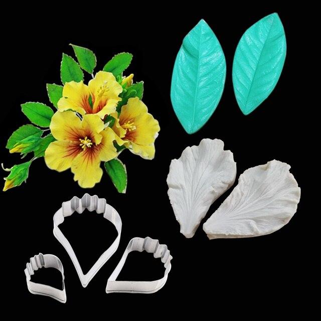 Poppy Hibiscus Silicone Veiner Cutter Flower Cutter Gumpaste
