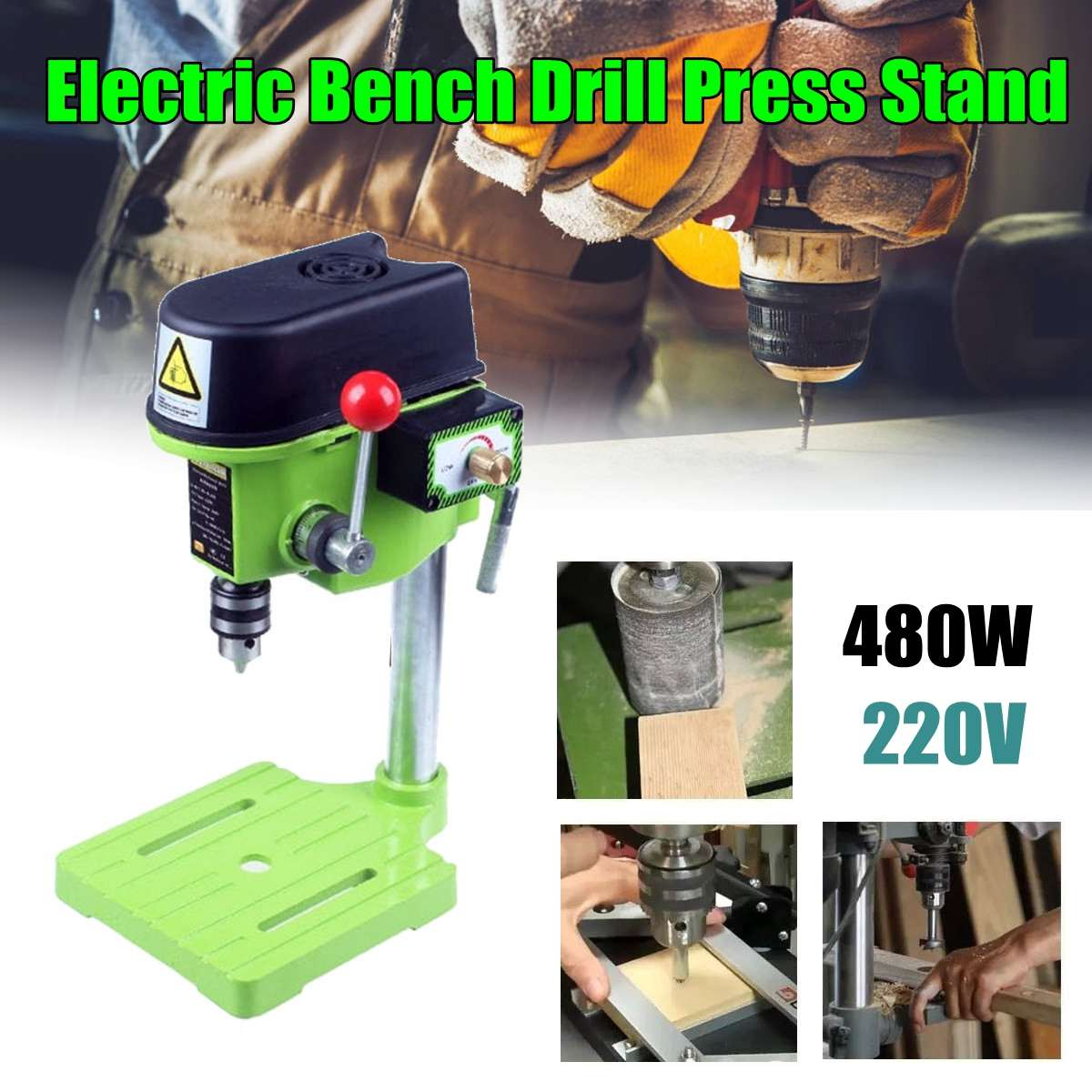 MINIQ BG 5159A Bench Drill Stand 480W Mini Electric Bench Drilling Machine Driller Stans