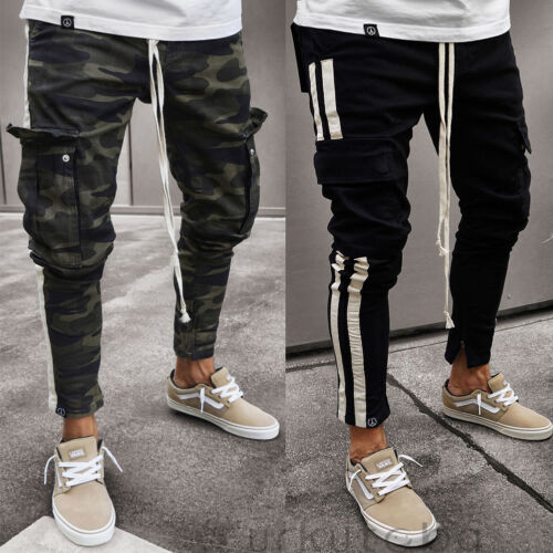 Fashion  Men Trousers Casual Long Pants Loose Military Work Cargo Camo Combat Pants Military  Camouflage(China)