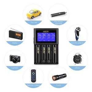 Image 4 - MOCH GOLISI s4 2.0a inteligente lcd 18650 carregador de bateria para li ion ni mh ni cd ni md 26650 20700 aa aaa recarregável batteri