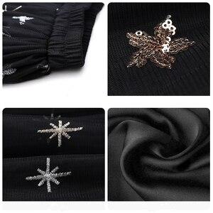 Image 5 - Flectit jupe Tutu à paillettes pour femmes, en Tulle, étoiles, en maille transparente, longueur Midi