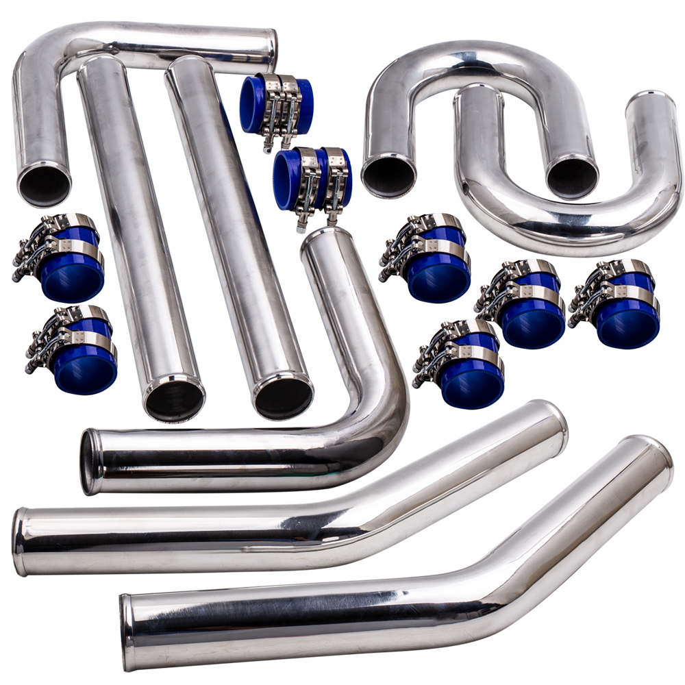 2.5 Inch 63mm 6061 Aluminum Universal Intercooler Turbo Piping Pipe Kit Fit for fits all Turbo Projects