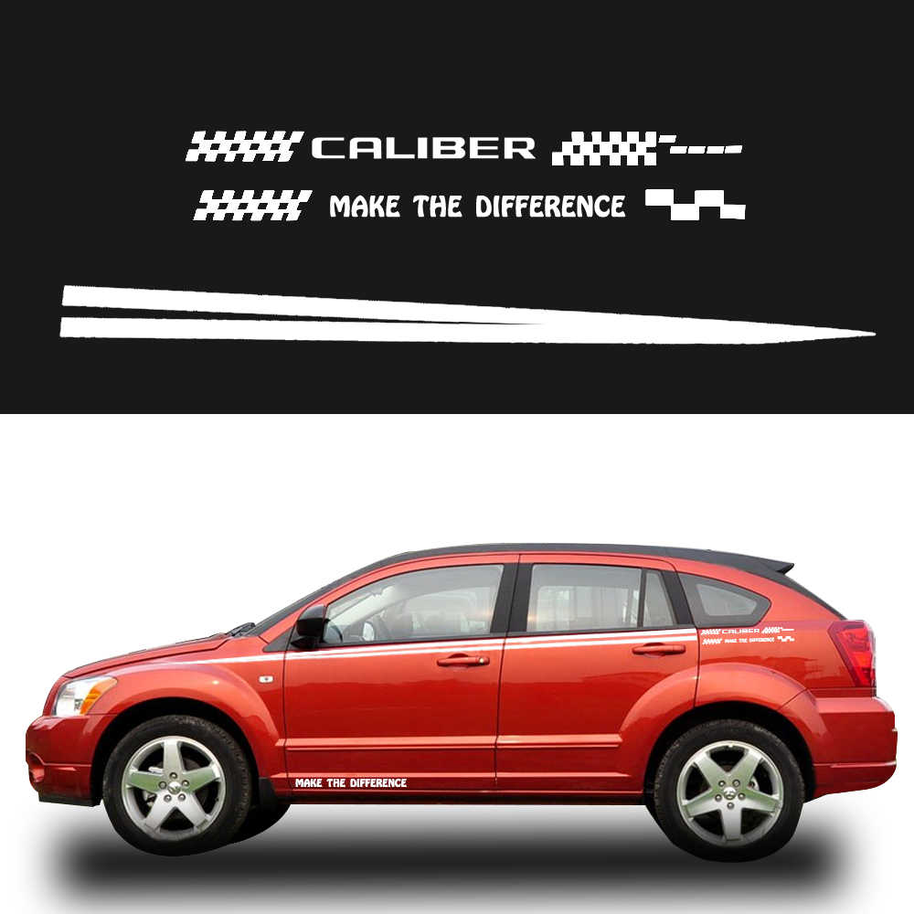 Car side body decal stickers auto for dodge caliber for hatchback sedan suv pickup truck decals