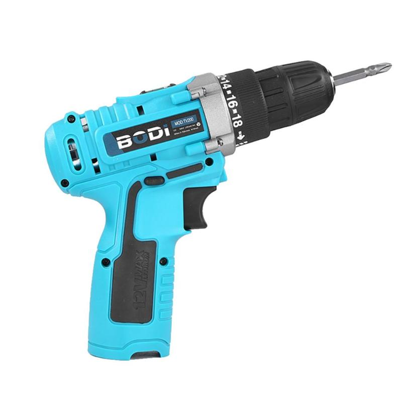 Alloet 12V Electric Screwdriver Cordless Lithium Drill Impact Drill Household Multi-functional Power Driver ABS + alloy MateriaAlloet 12V Electric Screwdriver Cordless Lithium Drill Impact Drill Household Multi-functional Power Driver ABS + alloy Materia