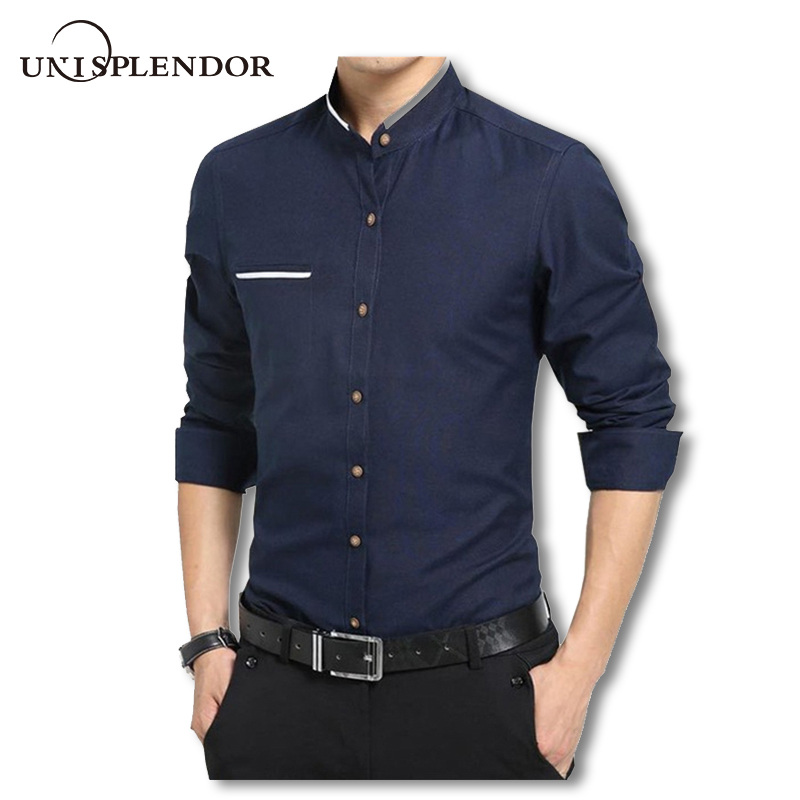 Men Short Sleeve Shirts,Mens Spring Winter Stand Collar Fashion Casual Short Sleeve Button Slim Top