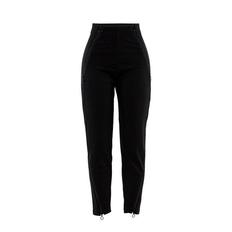 Harem Pants Women Joggers Hip Hop Zipper Cool Streetwear Sweatpants Fashion Gothic Loose Casual Pants High Waist Black Trousers