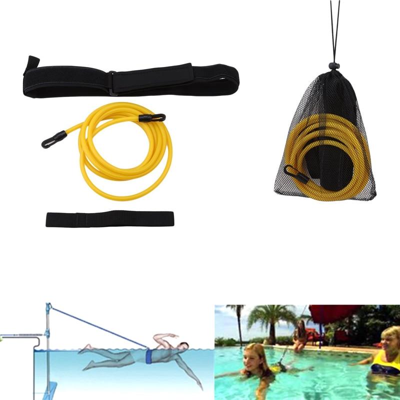 Adults And Children Swim Water Trainer Strength Belt Neoprene Swimming Training Harness Resistance Belt With Mesh Pocket