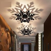 Novelty Led snowflake wall light fixtures porch light Bedroom ceiling fixtures Corridor Balcony Home Acrylic Shadow Wall sconces