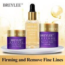 Breylee retinol anti envelhecimento endurecimento conjunto soro facial creme para o rosto creme para os olhos remover linha fina rugas hidratação apertar skincare