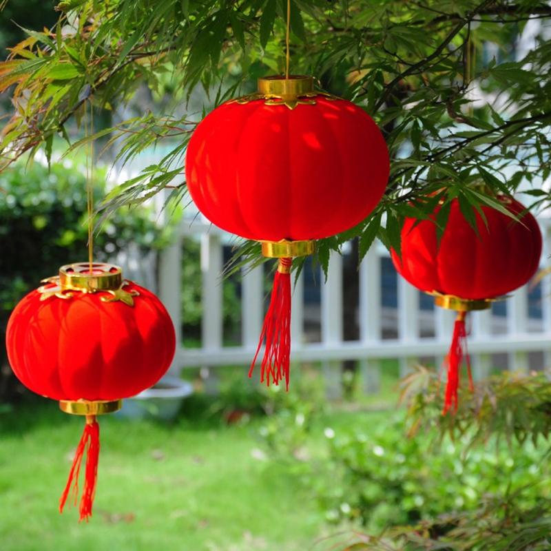 30Pcs/Set Lantern Spring Festival New Year Traditional Chinese Red Small Hanging Lantern Festival/ Wedding/ Party Decorations