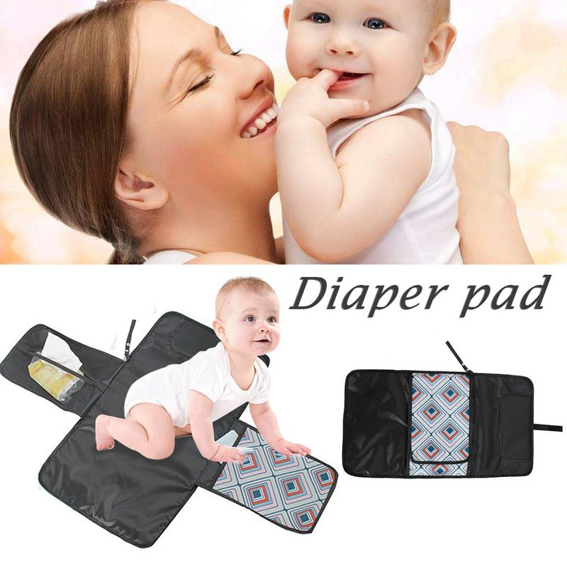 Waterproof Baby Changing Mat Sheet Portable Diaper Changing Pad Travel Table Changing Station Kit Diaper Clutch Care Products In Short Supply Nappy Changing Baby Care
