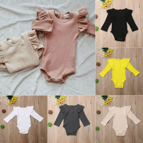 Winter Baby Girl Rompers Autumn Princess Newborn Baby Clothes For 0-2Y Girls Boys Long Sleeve Jumpsuit Kids Baby Outfits Clothes 3