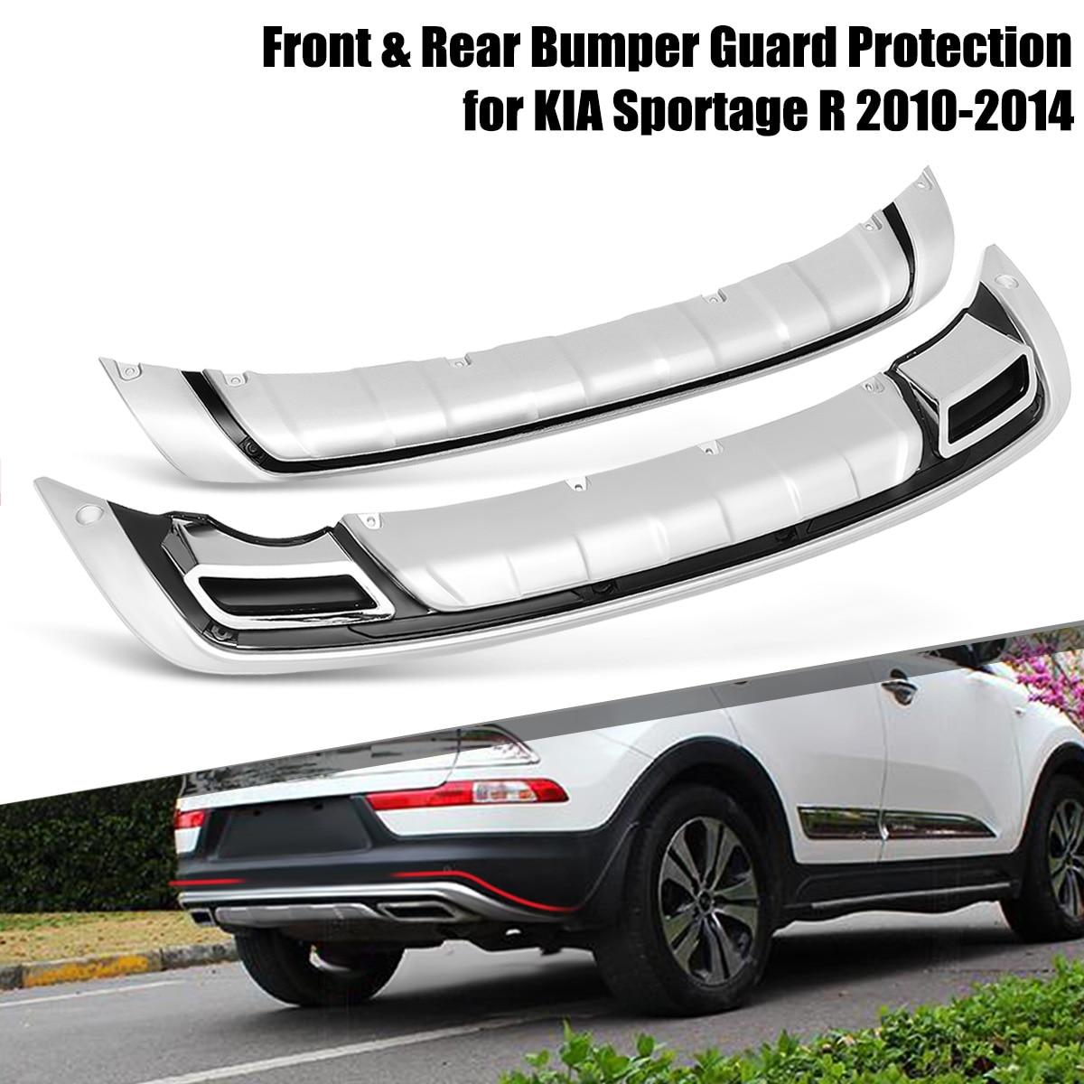 2 pçs/set Proteção Protetor Bumper Bumpers Capa Guarda Dianteira E Traseira Do Carro ABS Para KIA Sportage R 2010 2011 2012 2013 2014