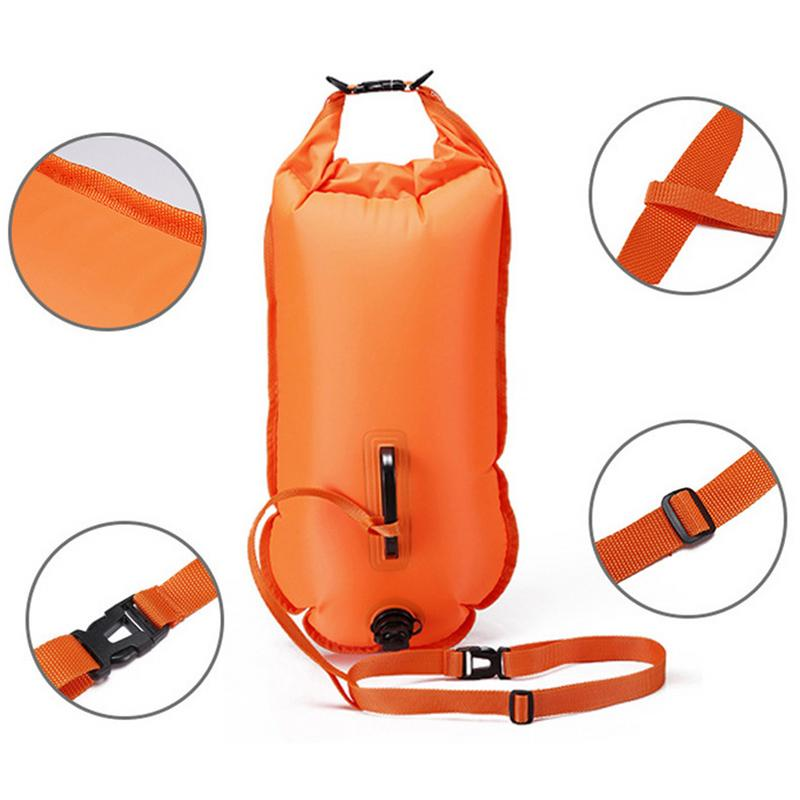 Outdoor Swimming Buoy Multifunctional Swimming Drifting Bag Open Water Swimming Training Buoy