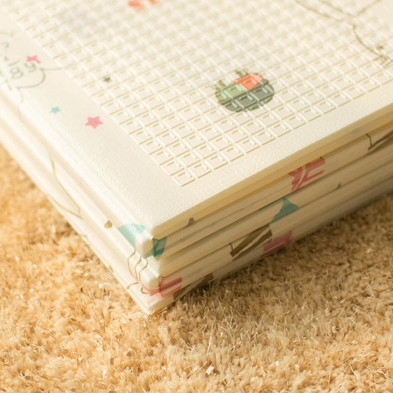 Infantile brillant enfants tapis de jeu pliant Puzzle tapis de jeu tapis de jeu pour les nourrissons 200*150*1 cm mousse ramper tapis Pack et jouer matelas - 5