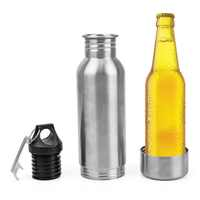 304 Edelstahl Kalt Isolierung Abdeckung Bier Flasche Halter Tragbare mit Metall Flasche Opener Glas Flasche Schutz