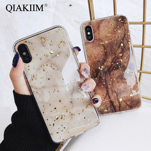 Luxury Gold Foil Bling Marble Phone Case For iPhone X XS Max XR Soft TPU Cover For iPhone 7 8 6 6s Plus 5 5S Glitter Coque Funda