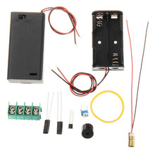 DIY Inframerah Laser Bertujuan Anti-Theft Alarm Modul Kit(China)