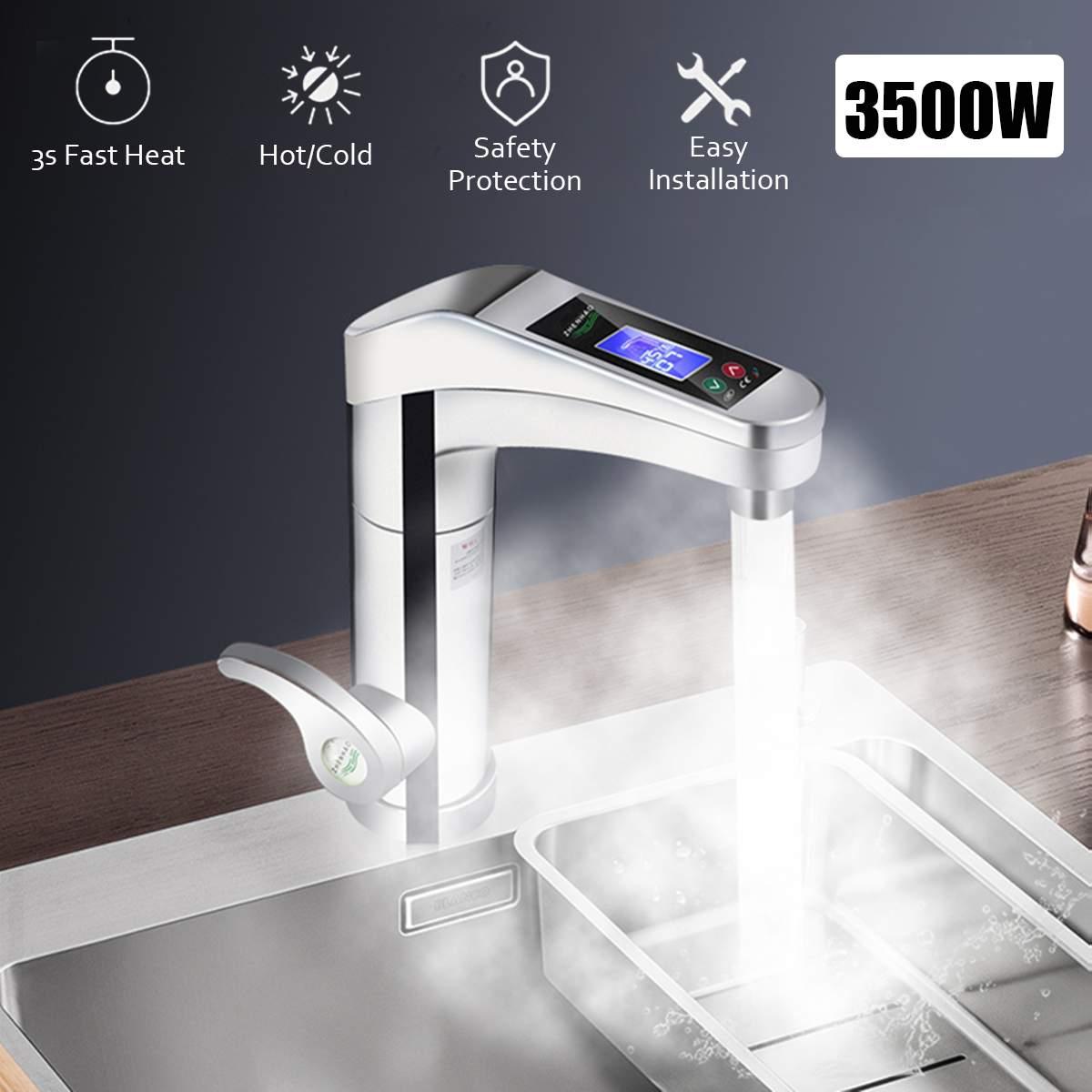 Affichage automatique Intelligent d'affichage à cristaux liquides robinet de chauffage électrique instantané d'eau chaude instantanée de chauffe-eau sans réservoir