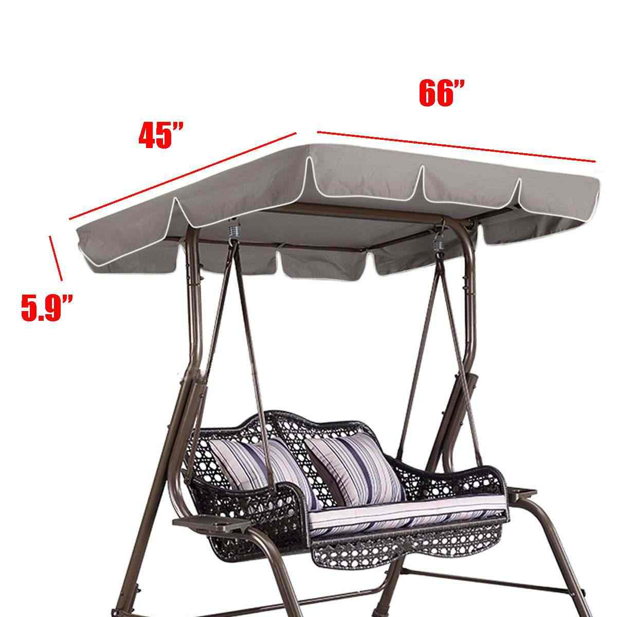 """66 """"X 45"""" X 5,9 """"сад качели тент навес уличный тент шатер двора качели кресло-гамак палатка Водонепроницаемый летний солнцезащитный навес"""