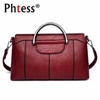 2018 Luxury Handbags Women Bags Designer Female Soft Leather Messenger Bag Women Famous Brand Bags 2018 Ladies Shoulder Bag New