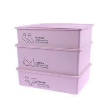 3bfd0ee72 3 pcs Calcinhas Sutiã Meias caixa de Underwear Caixa de Armazenamento de  Plástico Recipiente Cueca Organizador Closet Dresser