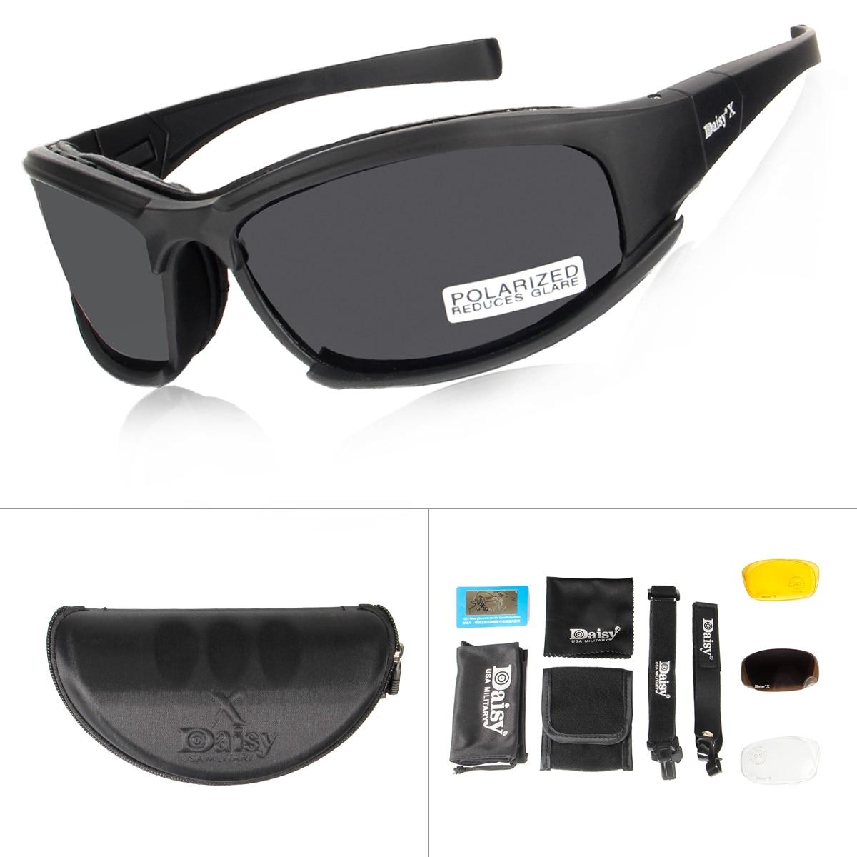 Daisy X7 camuflaje gafas 4LS militar los hombres gafas de sol polarizadas bala prueba Airsoft tiro de la motocicleta gafas de ciclismo