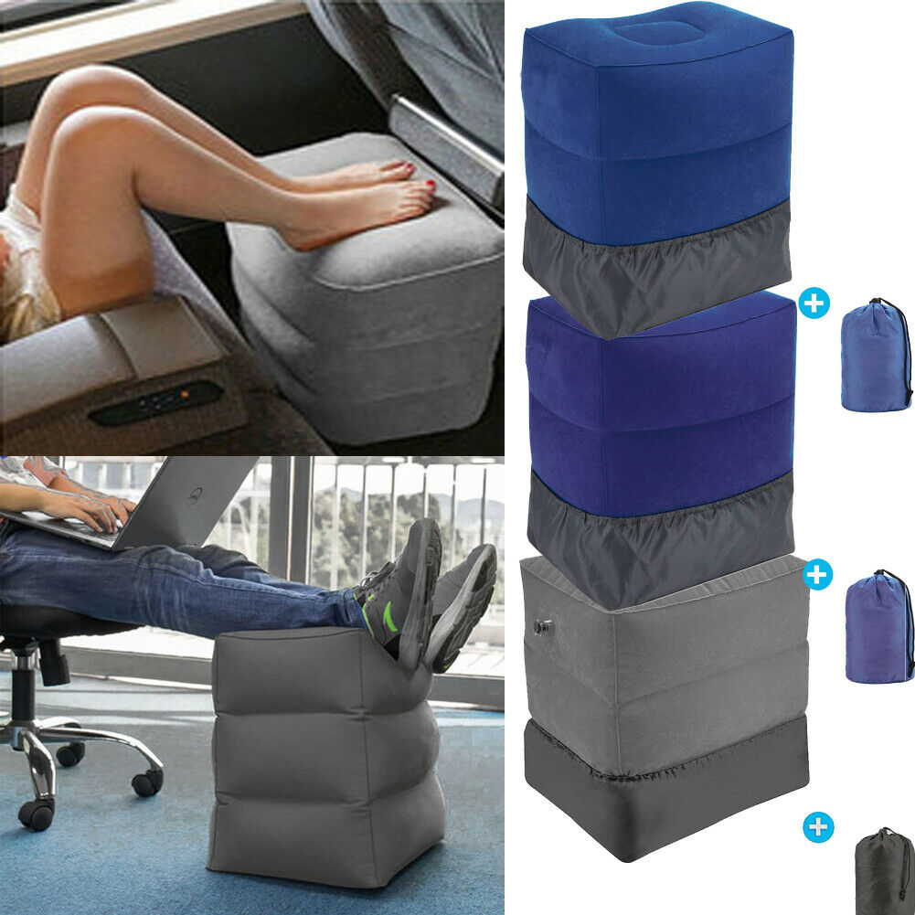 3 Layer Inflatable Pillow Cushion Case Travel Relax Air