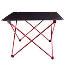 ¡Promoción! Mesa plegable portátil, plegable, escritorio, Camping, exterior, aleación de aluminio, Picnic 6061 ultraligero