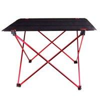 Promotie! Draagbare Opvouwbaar Opvouwbare Tafel Bureau Camping Outdoor Aluminium Picknick 6061 ultralichte