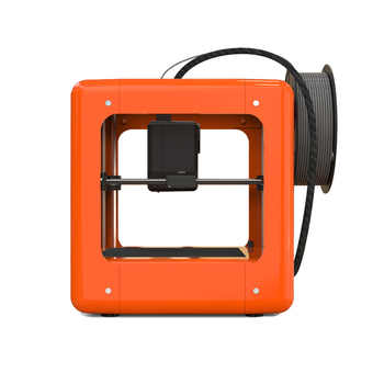 NEW Orange Mini Fully Assembled 3D Printer 90*110*110mm Printing Size Support One Key Printing 1.75mm 0.4mm Nozzle