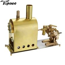 Mini Steam Boiler Stirling Engine Motor Model Heat Education DIY Toy Gift For Kids Craft Ornament Discovery