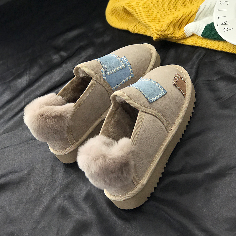 Fashion Winter Women Shoes Patch Thickening To Keep Warm Female Footwear Non-slip Plus Flock Ladies Ankle Boots 18