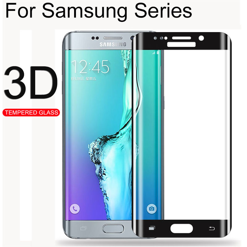 S9 + Glas 3D Curved Screen Portector Tempered Glass For Samsung Galaxy S9 S8 S7 S6 Edge plus Note 8 9 S 9 8 7 6 Note8 Note9 Film image