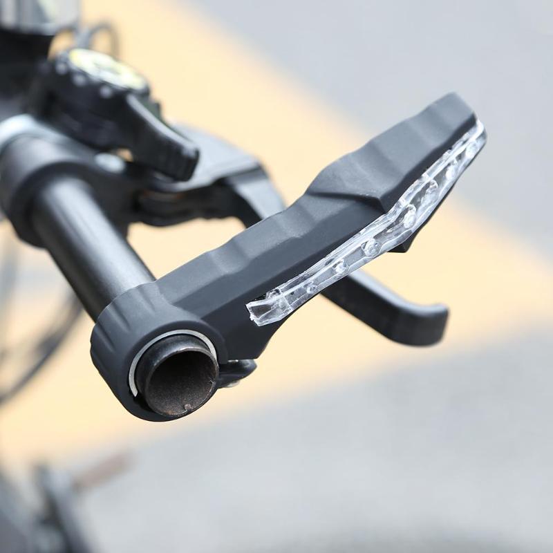 1Pair Bicycle Handlebar Bike Bar Ends Paired MTB Small Auxiliary Handlebar Bike Parts Accessories Light Turn Handlebar Lights